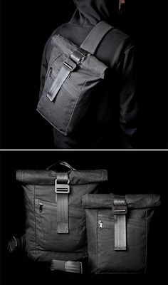 Modern Industry Redux Slingpack and Drive Rolltop Backpack at werd.com