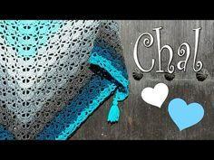 Precioso chal a crochet - YouTube