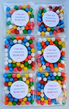 Last Day of School Gumball Favors