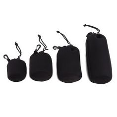 HDE® Neoprene DSLR Camera Lens Pouches – Set of 4