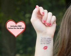10 Bachelorette Tattoos  Bachelorette Party by SymbolicImports