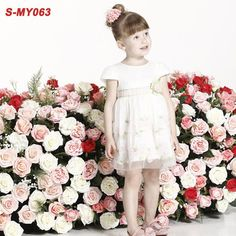 Cap sleeve baby party frocks image girl clothing for wedding  contact:moon01@moonyao.com   #GirlClothing #KidsClothing #GirlDress #KidsDress