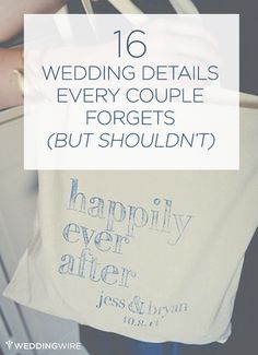 Don't forget these details when planning your wedding!