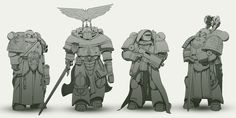 """I wanted to make them to look more like medieval knights, because that is what I feel about them after I read """"Descent of Angels"""". In fact, I don't like the first guy. There is something wrong in h..."""