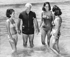 Harold Holt with his stepdaughters-in-law in He was the local member for Malvern and Prime Minister of Australia from A keen diver and spear fisherman, he disappeared in rough seas off Cheviot Beach, Victoria on 17 December His body was never found. White Ford Explorer, Australian Photography, Australian Curriculum, Twin Boys, Old Photos, Melbourne, Mystery, Victoria, Black And White
