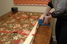 Stapling DIY No Sew Window Valance