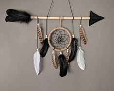 Items similar to Pink arrow nursery dream catcher/ large baby mobile/ Large arrow wall hanging/ Shabby chich dreamcatcher/ Baby shower gift on Etsy Arrow Nursery, Creation Deco, Baby Kind, Pin Collection, Boho Decor, Decoration, Stencil, Diy And Crafts, Crafty