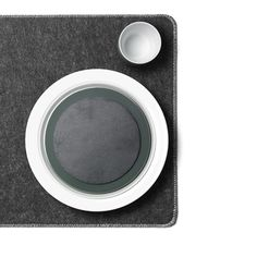 Menu - Filz-Tischset in Grau