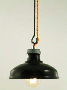 Image of MATT BLACK ENAMEL | old style kitchen shade | SMALL