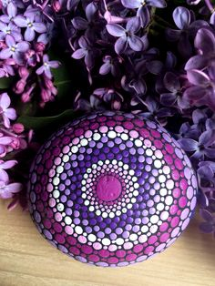 Log in to your Etsy account. Lilac Color, Purple Lilac, Stone Painting, Rock Painting, Painted Rocks, Hand Painted, Mandala Rocks, Rabbit Toys, Rock Art