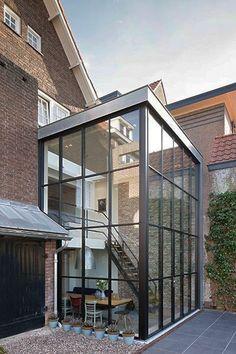 Modern Dutch Door Home Ideas Architecture Plan, Interior Architecture, Landscape Architecture, House Extensions, Modern Interior Design, Exterior Design, Future House, Backyard, Patio