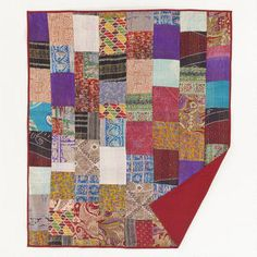 Kantha Sari Patch Throw from World Market. Love the patchwork!