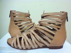 Belle by Sigerson Morrison Alpina Light Natural Leather Women's Flats Sandals 6  #BellebySigersonMorrison #FashionStrappyFlatsSandals
