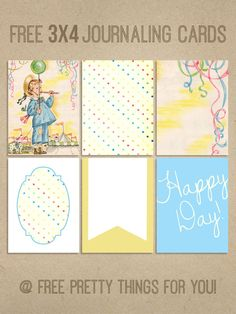Project Life: Happy Day Journal Cards