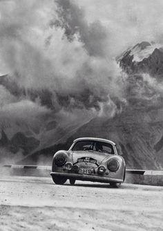 """motorsportsarchives: """" 1952 Liege Rome Liege Rally, Helmut Polensky, Porsche 356, Walter Schluter """" fresh*"""