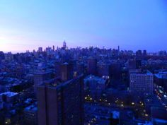 Orange & Purple Dusk Over Manhattan, New York City