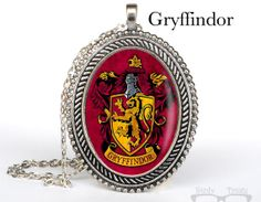 Harry Potter Inspired Necklace Gryffindor Cameo by NerdyTreats, $20.00