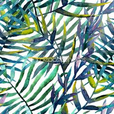 Watercolor tropical pattern — Stock Illustration #63191699
