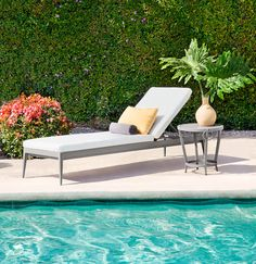 Outdoor Furniture - Luna Chaise, Occasional Table