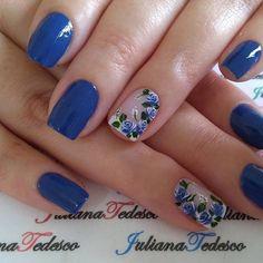 Cute Nail Art Designs, Gel Nail Designs, Cute Nails, Pretty Nails, Minion Nails, Diva Nails, Short Nails Art, Fabulous Nails, Flower Nails