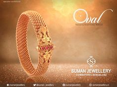 Decorate your hand with this beautifully crafted master piece Bangle only from Suman jewellery #jewellery #gold #diamond #bangles #beautiful #crafted