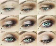 Apply a base for the eyeshadows. Apply brown eyeshadow to the outer half of the lid. Apply dark purple eyeshadow to the outer half of the lid and Manicure At Home, Diy Manicure, Easy Makeup Tutorial, Purple Eyeshadow, Makeup Geek, Simple Makeup, Smokey Eye, Hair Beauty, Make Up