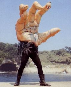 """a Monster in TV series """"Kikader."""" Japan -- Giant hand monster with one eye Space Ghost, Japanese Monster, Scary Monsters, Bizarre, Betta, Creepy, Weird, Sci Fi, Character Design"""