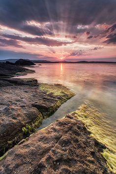 splendid sunset taken in Bulgaria