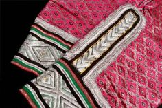 Detail of heavily embroidered, women's trouser cuffs, Oman. TRC collection.