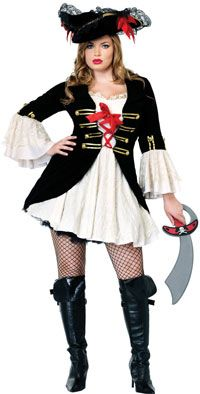 Sexy Plus Size Captain Swashbuckler Pirate Costume - Pirate Costumes