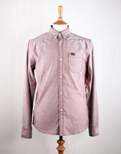 Marshall Artist Yarn Dyed Oxford Shirt - Burgundy
