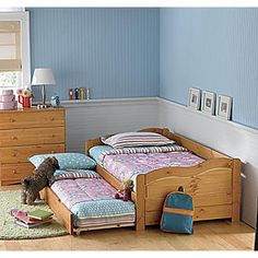 Solid Pine Daybed Trundle Bed- think this will be perfect for Gabe and Logan.