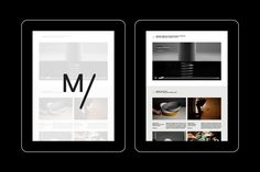 Website and Identity for Marcus Form furniture Swedish furniture Company - Website - Overview on landing page