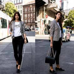 More looks by Jacky: http://lb.nu/whaelse  #casual #minimal #street #blazer #casualchic #slimfit #blackjeans #jakes #flattered