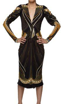 Robert Cavalli Striped Dress