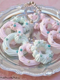 Pink Piccadilly Pastries: Sparkly Pastel Meringue Wreath Ornaments