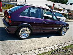 Purple VW Polo Coupe