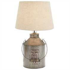 Hill Farms Milk Can Table Lamp by Park Designs. Shop EverythingPrimitives for Primitive, Country, and Rustic décor for your home. Blue Table Lamp, Table Lamp Sets, Milk Can Table, Antique Milk Can, Country Lamps, Galvanized Decor, Stained Glass Light, Parking Design, Milk Cans
