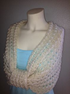 Knit Shoulder Wrap Capelet Poncho Sweater by BiziKnitting4You