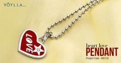 HEART PENDANT WITH CHAIN Product Code :495130 #fashion #jewelry #online #love #girls #pendant #india