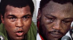 It was hard to tell who had won by looking at the post-fight faces of champion Muhammad Ali (left) and defeated challenger Joe Frazier.