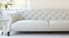 Luxe Modern Large 3 Seater Leather Chesterfield Sofa from Danetti.
