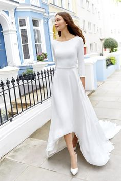 Justin Alexander Adore Wedding Dress Pictures, Dream Wedding Dresses, Bridal Dresses, Wedding Gowns, High Low Wedding Dresses, Minimal Wedding Dress, Wedding Bride, Formal Dresses, Lillian West