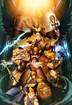 Gods -  Myth Pantheons by GENZOMAN.deviantart.com on @deviantART. A mixture of all of the major pantheons
