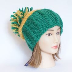 Green bay packers hat green and yellow team hat por Johannahats, $30.00