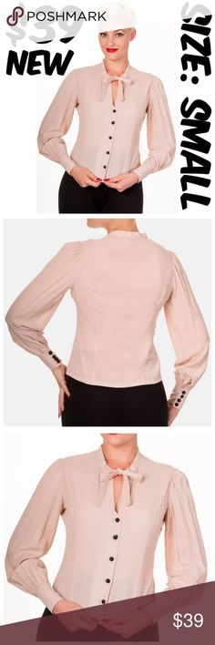 """Long Sleeve Pin Up Clothing Top Steampunk Blouse ITEM #355 PRICE: $39 FITS BUST: 34-36"""" FITS WAIST: 26-30"""" CONDITION: NEW #C3 Banned Tops"""