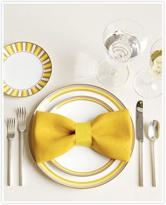 fit to be tied...very cute napkin idea for a formal dinner