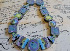 Polymer Clay Beads by TLS Clay Design by TLSClayDesign on Etsy, $24.99