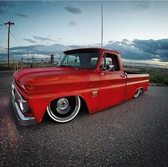 Los Angeles Candle Company www.LACANCO.com #LACanCo dropped red 66 Chevy c10 on black 22s