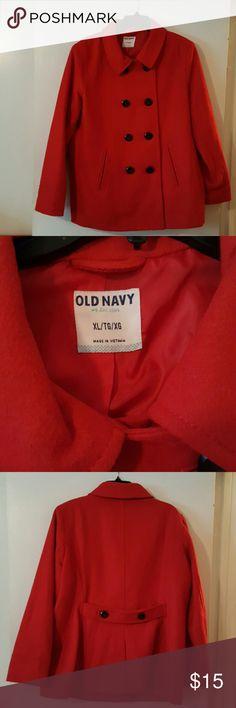 Radiant Red Old Navy Brand Pea Coat Radiant Red Old Navy Brand Pea Coat..Size XL...29% Polyester 23% Acrylic  5% Rayon Old Navy Jackets & Coats Pea Coats